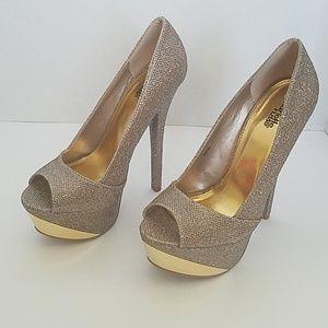 Shoes - Platform Gold High Heels